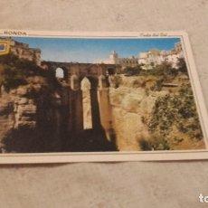 Postales: POSTAL DE RONDA - PUENTE NUEVO - NO ESCRITA NI CIRCULADA. Lote 80389473
