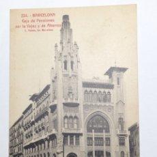 Postales: 224 BARCELONA - CAJA DE PENSIONES POR LA VEJEZ Y DE AHORROS ROISIN. Lote 82349334