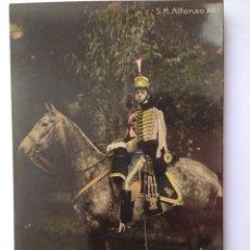 Postales: ALFONSO XIII MONTADO A CABALLO UNIÓN POSTALE UNIVERSELLE. Lote 82462400