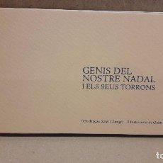 Postales: GENIS DEL NOSTRE NADAL I ELS SEUS TORRONS. CAIXA GIRONA / FELICITACIÓN NAVIDAD ( 11 PIEZAS ) ESTUCHE. Lote 83002192