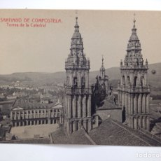 Postales: SANTIAGO DE COMPOSTELA 19 TORRES DE LA CATEDRAL FOTOTIPIA. Lote 83800484