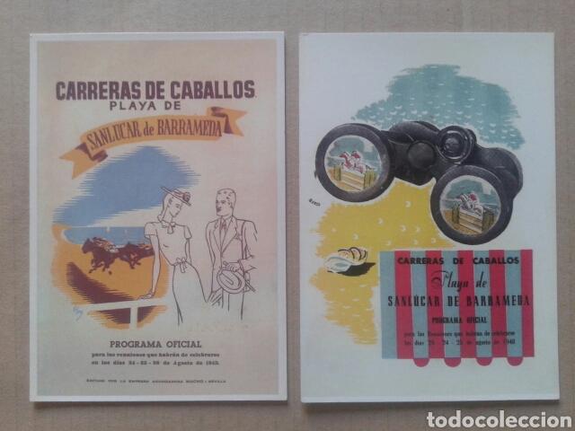 Postales: 24 postales históricas de Sanlúcar de Barrameda. Reproduccciones en formato postal (B/N y color) - Foto 4 - 84056947