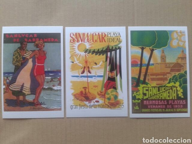 Postales: 24 postales históricas de Sanlúcar de Barrameda. Reproduccciones en formato postal (B/N y color) - Foto 5 - 84056947