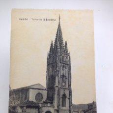 Postales: OVIEDO TORRE DE LA CATEDRAL. Lote 84765339
