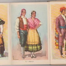 Postales: POSTALES TRAJES TIPICOS ESPAÑOLES ( 10 ). Lote 85351692