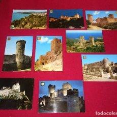 Postales: LOTE 9 POSTALES CASTILLOS VARIADAS. Lote 86277208