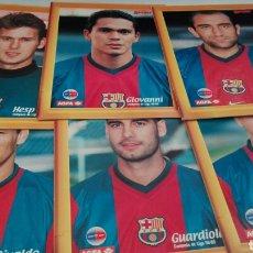 Postales: LOTE 18 POSTALES PORTA_ RETRATOS 1998/99 BARCELONA CAMPEON DE LIGA. Lote 86547142