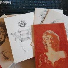 Postales: MARILYN MONROE JOSE GONZALEZ 6 POSTALES, SERIE COMPLETA 1984 . Lote 87457048