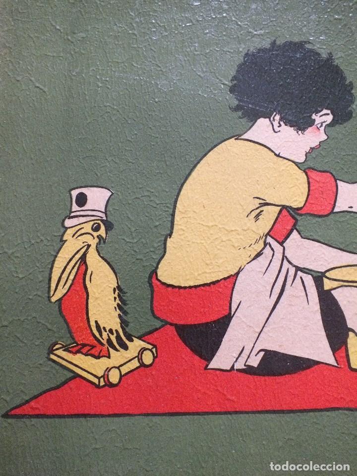 Postales: XAVIER SAGER CUADRO DECORACIÓN HABITACION NIÑO NIÑA CARTEL INFANTIL DIBUJO ANTIGUO - Foto 12 - 87948992
