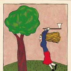 Postales: CHARLOTTE MUTSAERS 1. POSTAL IMAGEN SELLO DE CORREOS. HOLANDA 1987. Lote 235715355