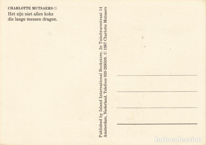 Postales: Charlotte Mutsaers 1. Postal imagen sello de Correos. Holanda 1987 - Foto 2 - 235715355