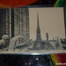 Postales: POSTAL BLANCO Y NEGRO. 14 X 9 CM. NOTRE-DAME, LES COMBLES ET LA FLÈCHE. Lote 90828305