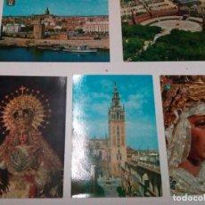 Postales: 5 POSTALES DE SEVILLA Y LA MACARENA Y LA ESPERANZA DE TRIANA. Lote 92858665