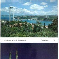 Postales: VE15- BLOC DE 12 FOTOS COLOR DE - ESTAMBUL - TURQUIA TODAS NUEVAS. Lote 94305626