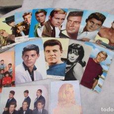 Postales: LOTE DE 15 POSTALES DE ACTORES Y ACTRICES FAMOSOS AÑOS 60 - PERFECTO ESTADO. Lote 94711871