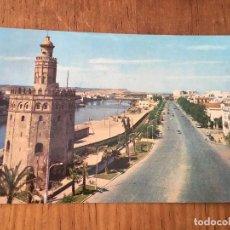 Postales: P0628 POSTAL FOTOGRAFIA NUMERO 1106 SEVILLA TORRE DEL ORO Y PASEO DE COLON. Lote 95763339