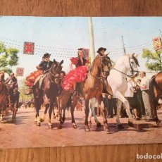 Postales: P0633 POSTAL FOTOGRAFIA SEVILLA NUMERO 150 FERIA ESCENA TIPICA. Lote 95763611