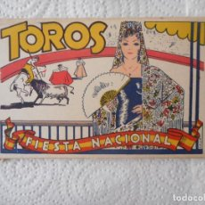 Postales: TOROS, FIESTA NACIONAL. ACORDEÓN DE DIEZ POSTALES HELIOTIPIAS. ANTIGUAS. BUEN ESTADO. Lote 96422799