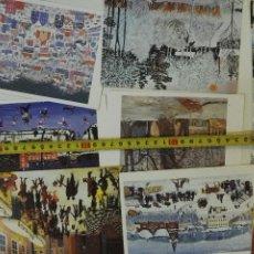 Postales: LOTE DE 12 POSTALES DE UNICEF MANS UNIDES DE LOS AÑOS 1980S. Lote 97888507