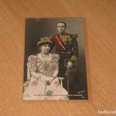 Postales: POSTAL DE SS.MM.DON ALFONSO Y DOÑA VICTORIA. REYES DE ESPAÑA. Lote 98008259