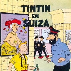 Postales: POSTAL TINTÍN EN SUIZA. BARCELONA 1984. Lote 47545347