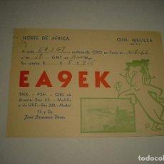 Cartoline: POSTAL RADIO AFICIONADO .EA9EK , NORTE DE AFRICA , MELILLA 1962. Lote 99201263