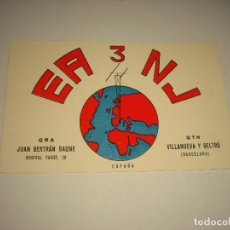 Postales: POSTAL RADIO AFICIONADO .EA3NJ , VILANOVA Y GELTRU 1961. Lote 99201579
