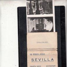 Postales: BLOCK DE 12 FOTOGRAFIAS DE SEVILLA. Lote 100561395