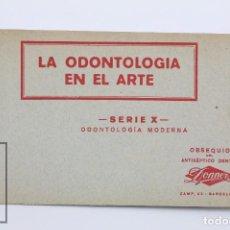 Postales: TACO DE 5 POSTALES ANTIGUAS - LA ODONTOLOGÍA EN EL ARTE. SERIE X. ODONTOLOGÍA MODERNA - DONNER. Lote 102203127
