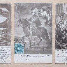 Postales: LOTE DE 3 TARJETAS POSTALES ANTIGUAS DEL MUSEO DEL PRADO. Lote 102704111