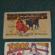 Postales: DOS ALBUMES DE POSTALES DE TOROS, ¨TOROS FIESTA NACIONAL Y CORRIDA DE TOROS¨, 20 Y 10 POSTALES.. Lote 102955127