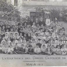 Postales: P- 7786. POSTAL FOTOGRAFICA SECCIO CATEQUISTICA CIRCOL CATOLICH DE GRACIA. MARÇ 1912.. Lote 103670267