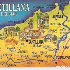 Postales: POSTAL 046962 : SANTILLANA DEL MAR - CANTABRIA. DIBUJO ORIGINAL JOSEP OPISSO. Lote 104279412