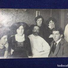 Postales: RETRATO DE FAMILIA PPIO S XX HOMBRES MUJERES DIVIDIDA . Lote 105839407