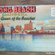 Postales: SERIE DE 18 POSTALES. LONG BEACH CALIFORNIA THE QUEEN OF THE BEACHES. C. 1940. Lote 106186423