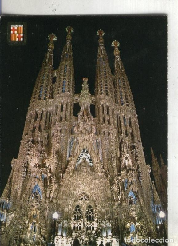 POSTAL 003705: BARCELONA: TEMPLO SAGRADA FAMILIA (Postales - Varios)