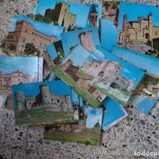 Postales: LOTE DE 64 POSTALES CASTILLOS Y CATEDRALES DE ESPAÑA. Lote 107821967