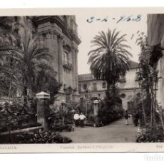 Postales: MÁLAGA.- CATEDRAL. JARDINES DEL SAGRARIO . FOT. ROISIN - 1942 - FOTOGRÁFICA. Lote 107884235