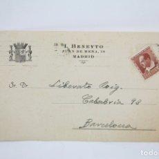 Postales: TARJETA POSTAL COMERCIAL - I. BENEYTO - MEDICAMENTOS - MADRID - AÑOS 30. Lote 108863938