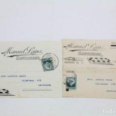 Postales: PAREJA DE TARJETA POSTAL COMERCIAL - MANUEL LAINZ - SANTANDER, CANTABRIA - AÑO 1934. Lote 108864016