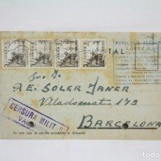 Postales: TARJETA POSTAL COMERCIAL - L. LÓPEZ MARÍ - PAPELERÍA - VALENCIA - AÑO 1939. Lote 108864434