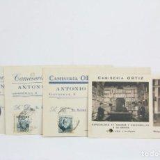 Postales: CONJUNTO TARJETAS POSTALES COMERCIALES - CAMISERÍA ORTIZ - CÓRDOBA - AÑO 1928-1934-1936. Lote 108867327