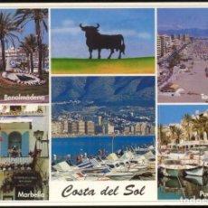 Postales: 664 - COSTA DEL SOL.- 5 VISTAS DE LA COSTA. Lote 109443991