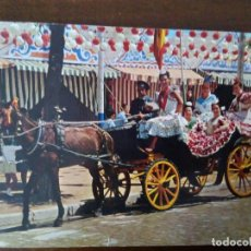 Postales: SEVILLA, FERIA DE ABRIL. GRUPO DE FLAMENCAS.. Lote 109451299
