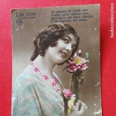 Postales: ANTIGUA POSTAL COLOREADA. ROMÁNTICA... Lote 109460439