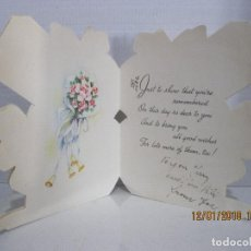 Postales: POSTAL FLORES TROQUELADA ESC. MADE IN CANADA VER FOTO ADICIONAL . Lote 109465891