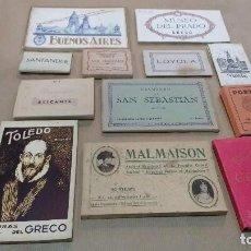 Postales: LOTE 12 LIBRO POSTALES ,VISTAS Y MINIATURAS. Lote 109490791