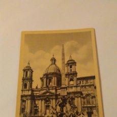 Postales: ANTIGUA POSTAL DE ROMA, PLAZA NAVONA. SIN USAR. Lote 110169631