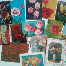 Postales: LOTE 15 POSTALES DE FLORES. Lote 111598743