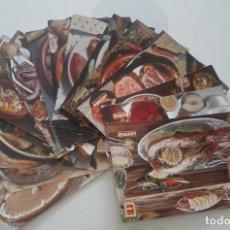 Postales: LOTE 17 POSTALES PLATOS TÍPICOS ESPAÑOLES EMITIDAS POR IBERIA. Lote 111613435